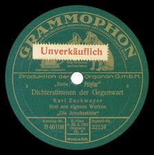 Band 2: Diskographie 78er Sprachaufnahmen Spoken / spoken word discography