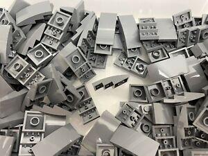 Lego 93606 Slope Curved 4x2 Dark Bluish Grey / 10 Pieces Per Order