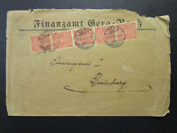 Germany 1922 Official Cover w/ Many 1 Mark Values - Z6853