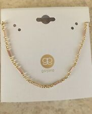 Gorjana Amalfi Enameled Necklace, Blush Enamel, Gold tone, NWT $55