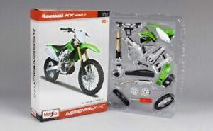 Maisto 1:12 Motorcross Bike Toy Assemble Model Kawasaki KX 450F Green UK STOCK