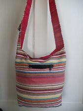 Stripe Woven Bag Fair Trade Cotton Cross Body Sling Ethnic Hippy Boho New Age