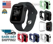 Silicone TPU Bumper Frame Protective Case Cover For Apple Watch Series 4 5 6 SE