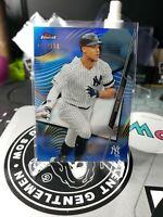 Aaron Judge 2020 Topps Finest Blue Refractor SP 24/150 New York Yankees Card #83