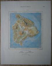 1889 Perron map HAWAII ISLAND, HAWAII (#205)