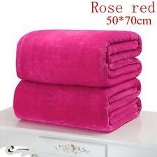 Hot Flannel Warm Solid Warm Micro Plush Fleece Blanket Throw Rug Sofa Bedding