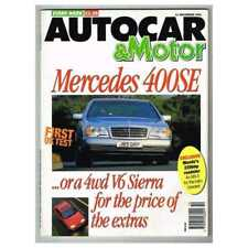 Autocar & Motor Magazine December 11 1991 MBox2948/A  Mercedes 400SE ..Or a 4wd