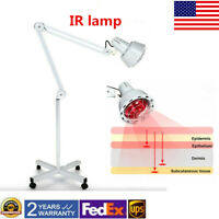 Infrared Red Heat Light Therapeutic Therapy Lamp Pain Relief Floor Stand IR Lamp
