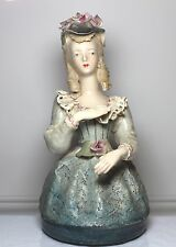 "Antique Cordey Woman Ceramic 9.50"" High Figurine Figure #5054"