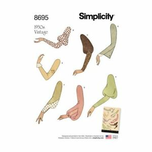 Simplicity Sewing Pattern 8695 Misses Size 10-22  Sleeve Patterns  Vintage 1930s