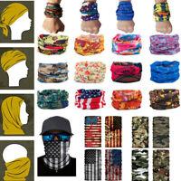 Unisex Bandana Scarf Seamless Turban Riding Mask Neck Cover Snood Headband USA