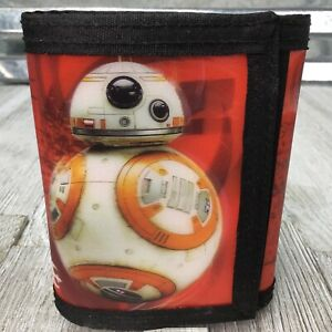 RZ-DZ Star Wars 3D Tri Fold Touch Fasten Wallet Red Black Trim
