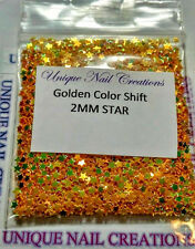 STAR 2MM Golden~Spangle~Arts & Crafts/ Nail Art~ USA