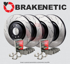 [F&R] BRAKENETIC PREMIUM RS SLOT Brake Rotors + POSI QUIET Ceramic Pads BPK96184