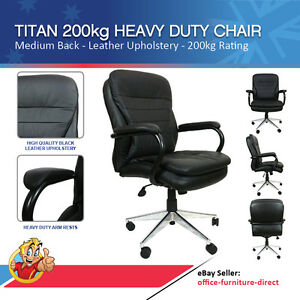 Executive Chair Bariatric Heavy Duty Chairs 200kg Tested Titan Office Seating