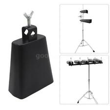 """5 """" Iron Cow-bell Percussion with  for Drum Set Kit Accessory I2S1"""