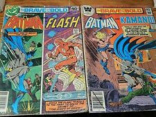 Bat Man Lot of two 1979 DC Comics #157 & #151 the Brave and the Bold