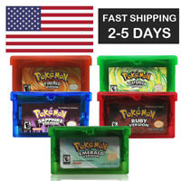 Pokemon RUBY FIRERED LEAFGREEN EMERALD SAPPHIRE GBA Gameboy Advance game card