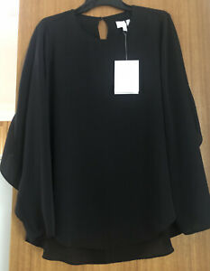 Witchery Size 10 Flutter Back Sheer Shirt Rrp $119  Sell$70