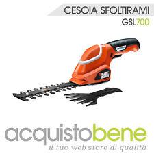 Cesoia cesoie sfoltirami elettrico 7v a batteria tagliaerba black&decker gsl700
