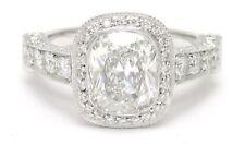 2.4CTW CUSHION CUT DIAMOND ENGAGEMENT RING DESIGNER INSPIRED ANTIQUE STYLE