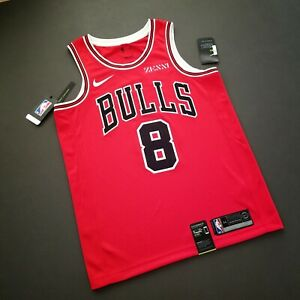 100% Authentic Zach LaVine Bulls Swingman Jersey Zenni Patch Size 52 XL Mens