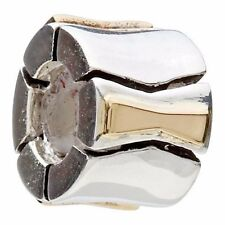 KC-76 Authentic Genuine Chamilia 14K Gold & Silver Bow-tie Charm Bead RETIRED