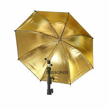 "Metal Frame 84cm 33"" Gold Black Umbrella Reflecter Studio Vedio Flash Diffuser"