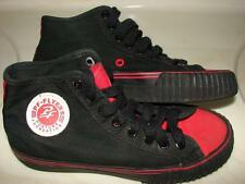 PF Flyers New Balance Center Hi Black Red Canvas High Top Shoes Mens 4.5 Women 6