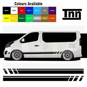 For Renualt Trafic Van Primastar Side Stripe Stickers Decal Vinyl Graphic Camper