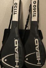 Two HEAD Squash Racquets. Ti. 140G & Ti 120 Strung.