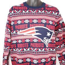 NEW ENGLAND PATRIOTS Ugly Christmas Sweater NFL Football Mens M Fair Isle