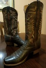 Lucchese Hand Made Mad Dog Goat Square Toe Western Boots Size 10.5 D*CHIEF L1670