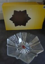 Waltherglas Lead Crystal Bon Bon Snack Fruit Bowl / Dish Xmas Christmas Star