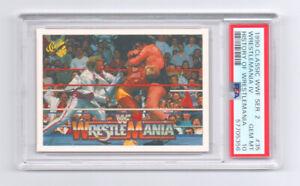 *DONALD TRUMP IN BACKGROUND* PSA 10 1990 Classic WWF History Of Wrestlemania #35