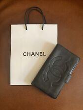 Authentic Chanel CC Logo Vintage Lambskin Long Wallet