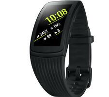 SAMSUNG Gear Fit 2 Pro Fitness Armband Silikon S Schwarz NEU & OVP