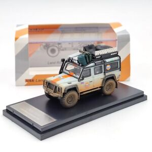 Master 1/64 Land Rover Defender 110 Gulf Muddy Collection Diecast Models Gifts