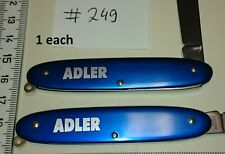 1 ADLER Germany pocket knife - blue metal scales   vintage - 2 functions  #249 c