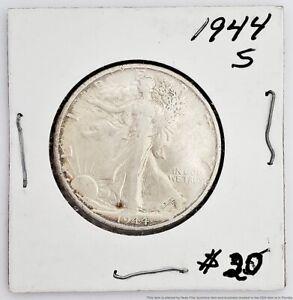 1944-S San Francisco Walking Liberty Half Dollar U.S.A. Coin American Vintage
