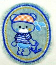 Jeans Applikation zum Aufbügeln Bügelbild 1-627 Teddy Bär