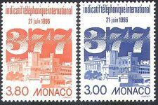 Monaco 1996 Telephone/Dialling Code/Palace/Buildings/Communication 2v set n41519