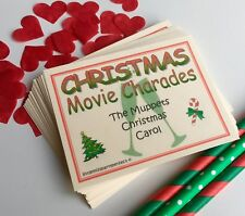 Christmas Movie Charades Christmas Day Eve New Year Party Drinking Games