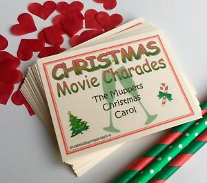 Christmas Movie Charades Day Eve New Year Party Drinking Games Virtual Zoom