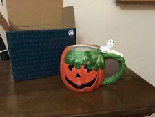 New ListingFitz and Floyd Essentials Halloween Pumpkin Ghost Mug New With Box