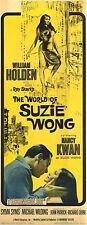 THE WORLD OF SUZIE WONG Movie POSTER 14x36 Insert William Holden Nancy Kwan