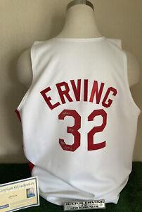 "JULIUS ""Dr J"" ERVING Signed Nets Throwback Jersey - Autographed w/ Steiner COA"