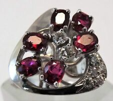 Ring Ruby White Gold Vintage & Antique Jewellery