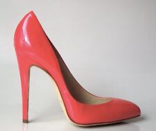 Brian Atwood Point Toe Pump Heels Shoes Starlet Coral Red Watermelon Sorbet $890