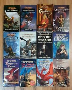 DragonLance 12 books lot assorted Weis & Hickman ADnD D&D Villains Mortals
